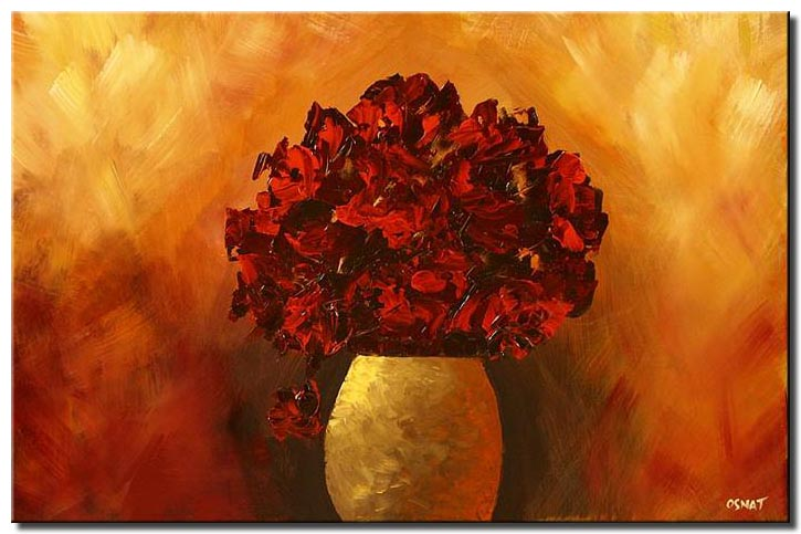red flowers in vase floral red decor