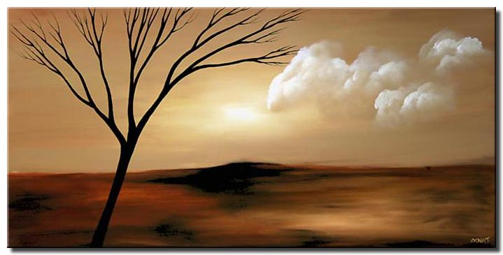 abstract landscape painting tranquility
