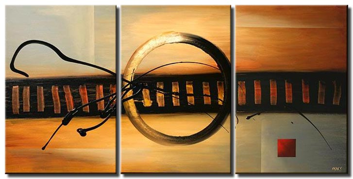 large modern painting abstract earth tones