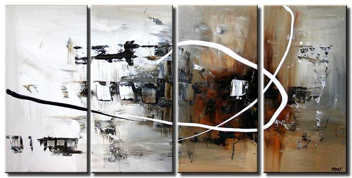 white abstract painting multi panel