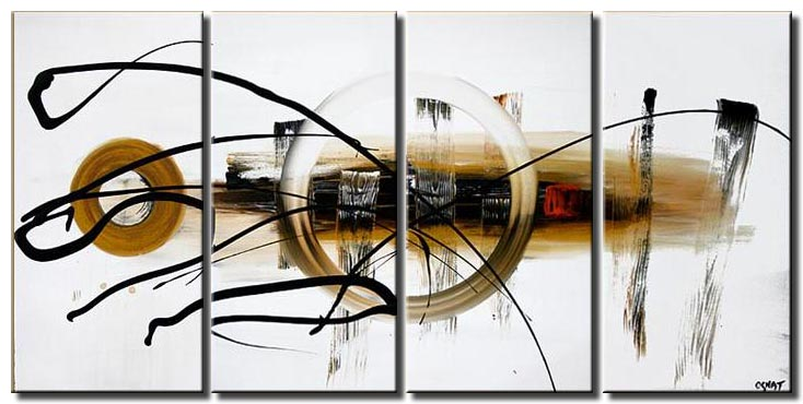 white multi panel abstract painting universe