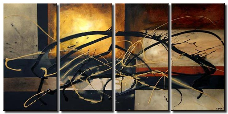 large modern multi panel abstract