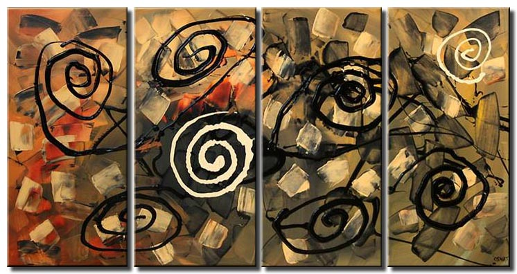 abstract contemporary painting multi panel