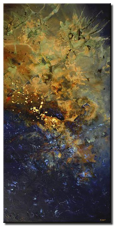 vertical abstract art starry sky