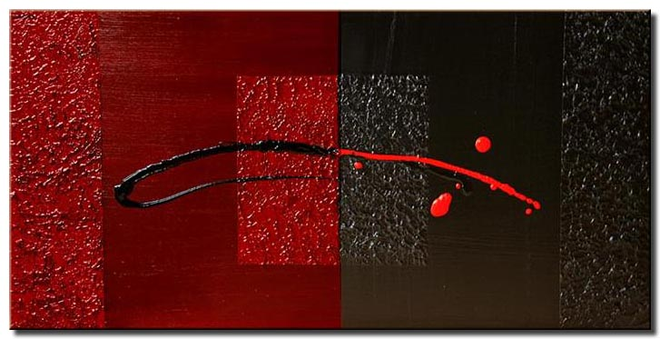 black and red painting modern art