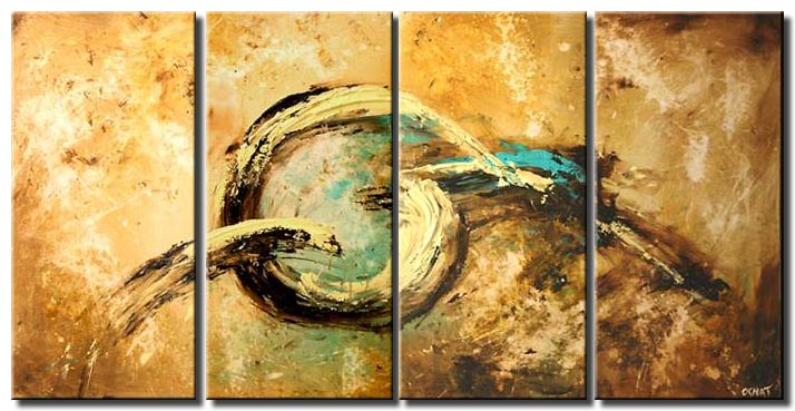 large rusty abstract painting multi panel