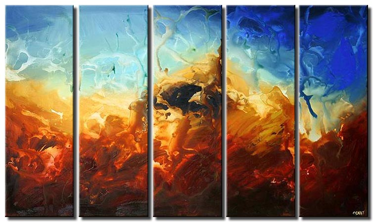 abstract art multi panel olympus decor