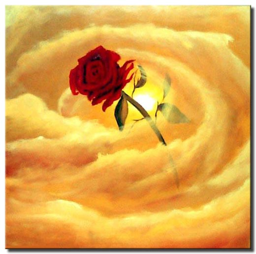 Painting for sale - love is in the air red rose #482