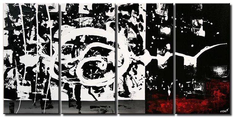 abstract contemporary painting black white