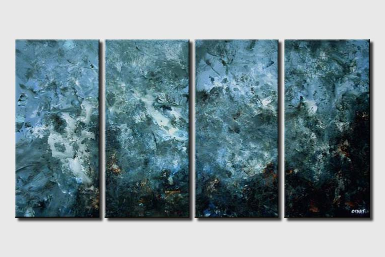 blue art multi panel galaxy decor