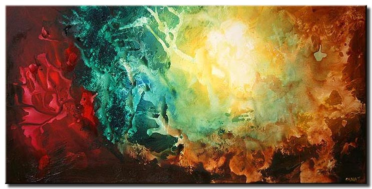 colorful modern painting earth shine decor
