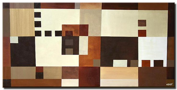 large geometrical painting squares 8-bit