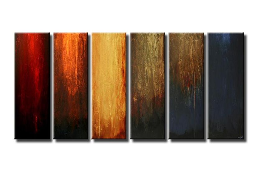 canvas art multi panel colorful vertical