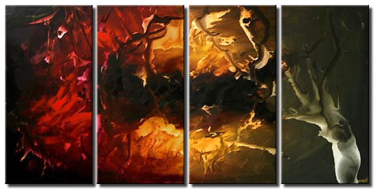 colorful painting multi panel home decor