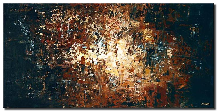 abstract art in dark colors large painting