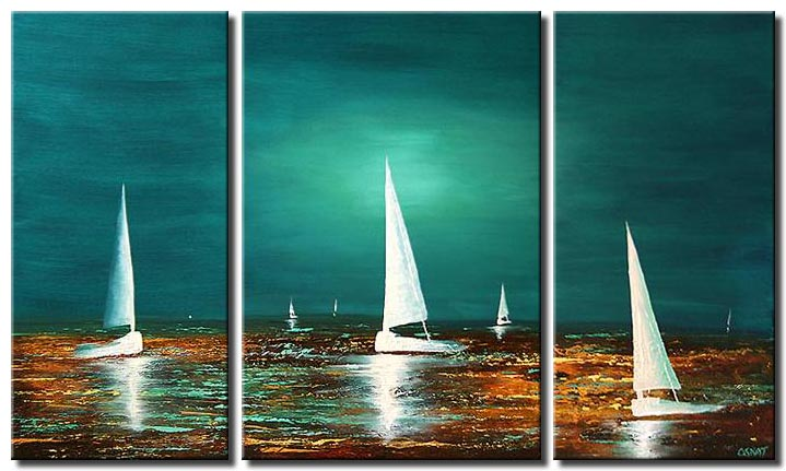 white sail boats sailing in the sea landscape