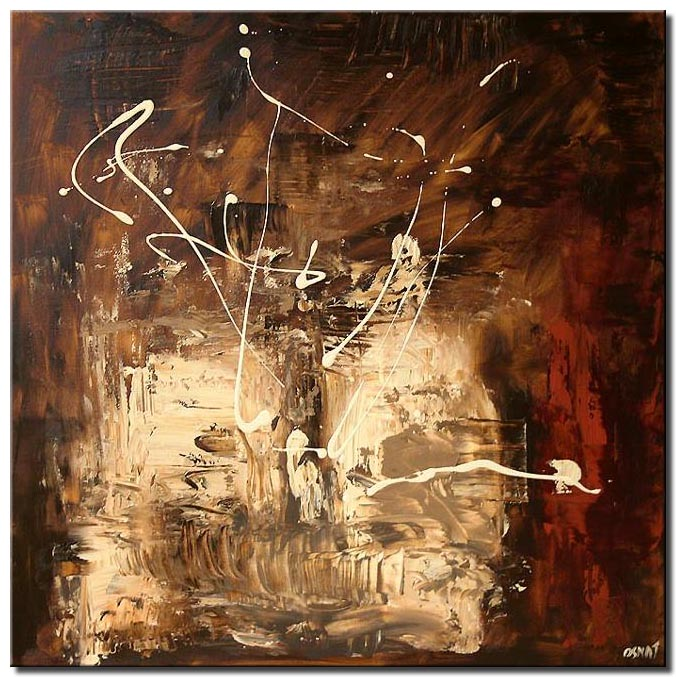 abstract square in brown tones home decor