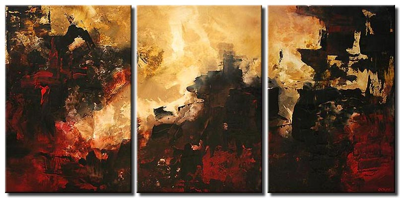 Triptych Abstract Art