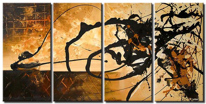 home decor multi panel canvas with black spalshes