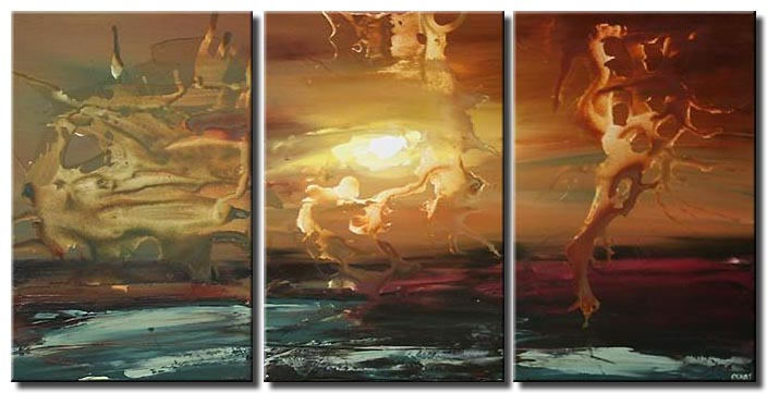 the day of creation triptych home decor