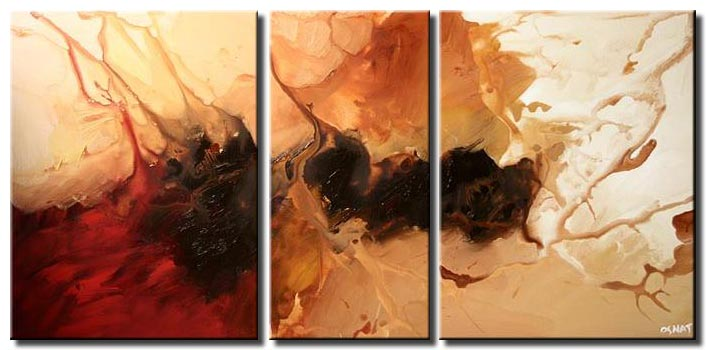 large modern abstract triptych decor wall