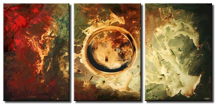 modern abstract home decor triptych star