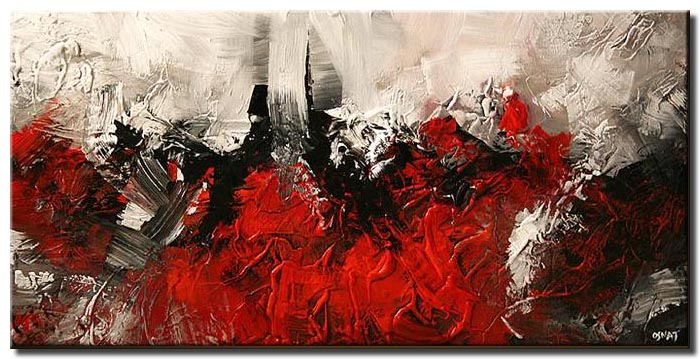 Painting For Sale Red Abstract Painting Dark White Background Art 5294