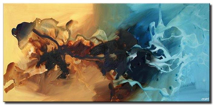 modern abstract art splash wind soft
