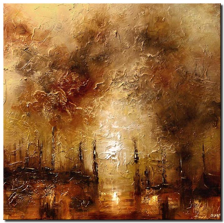 textured cityscape square painting shore