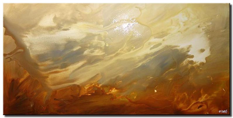 soft abstract painting horizontal home decor