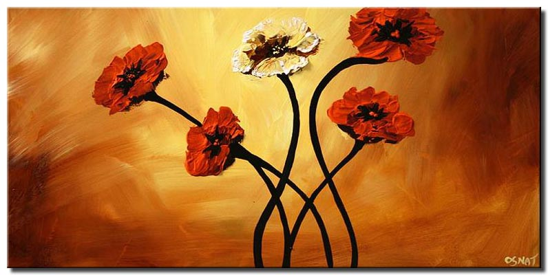 large red flowers  home decor floral