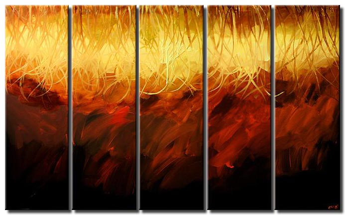 modern abstract living room painting multi panel