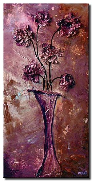 lavender vase and flowers home decor pink