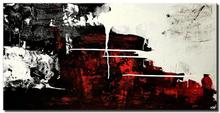 Painting For Abstract In Red