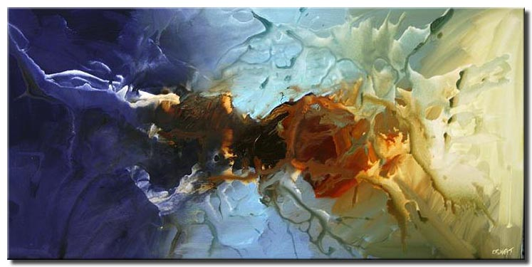 large blue abstract home painting splash