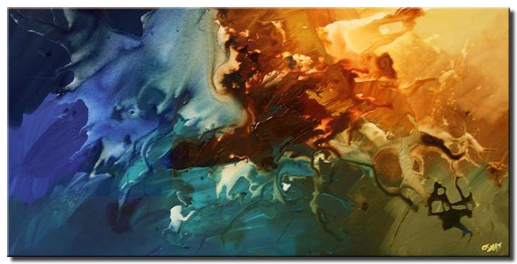modern abstract decor splash colorful