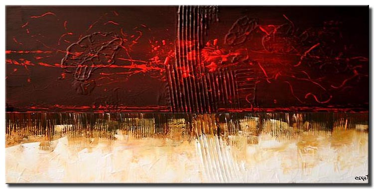 contemporary painting home decor horizontal