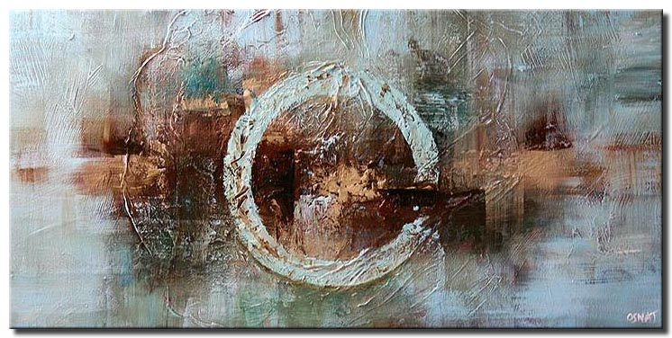 contemporary soft painting circle large