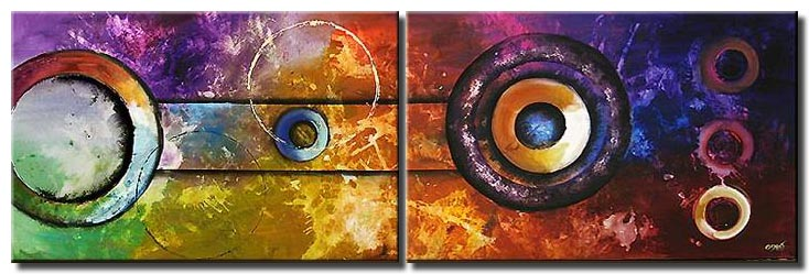 colorful circles modern painting geometric