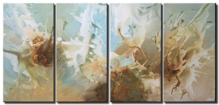 soft blue abstract seascape multi panel