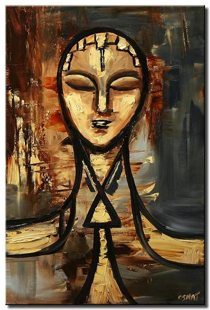 abstract face painting home decor ancient