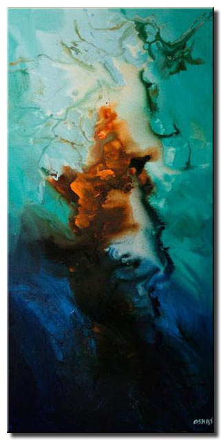 modern vertical abstract painting large