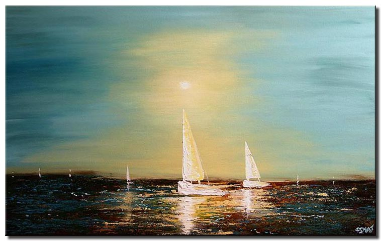 sail boats painting home decor sea shine
