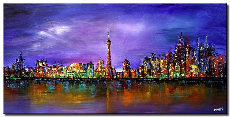 toronto skyline wall decor city landscape