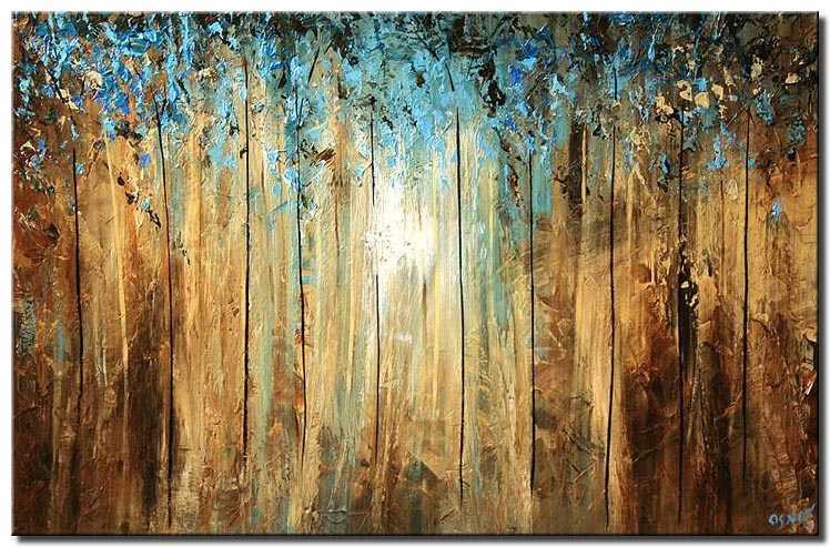 dense forest wall decor light trees