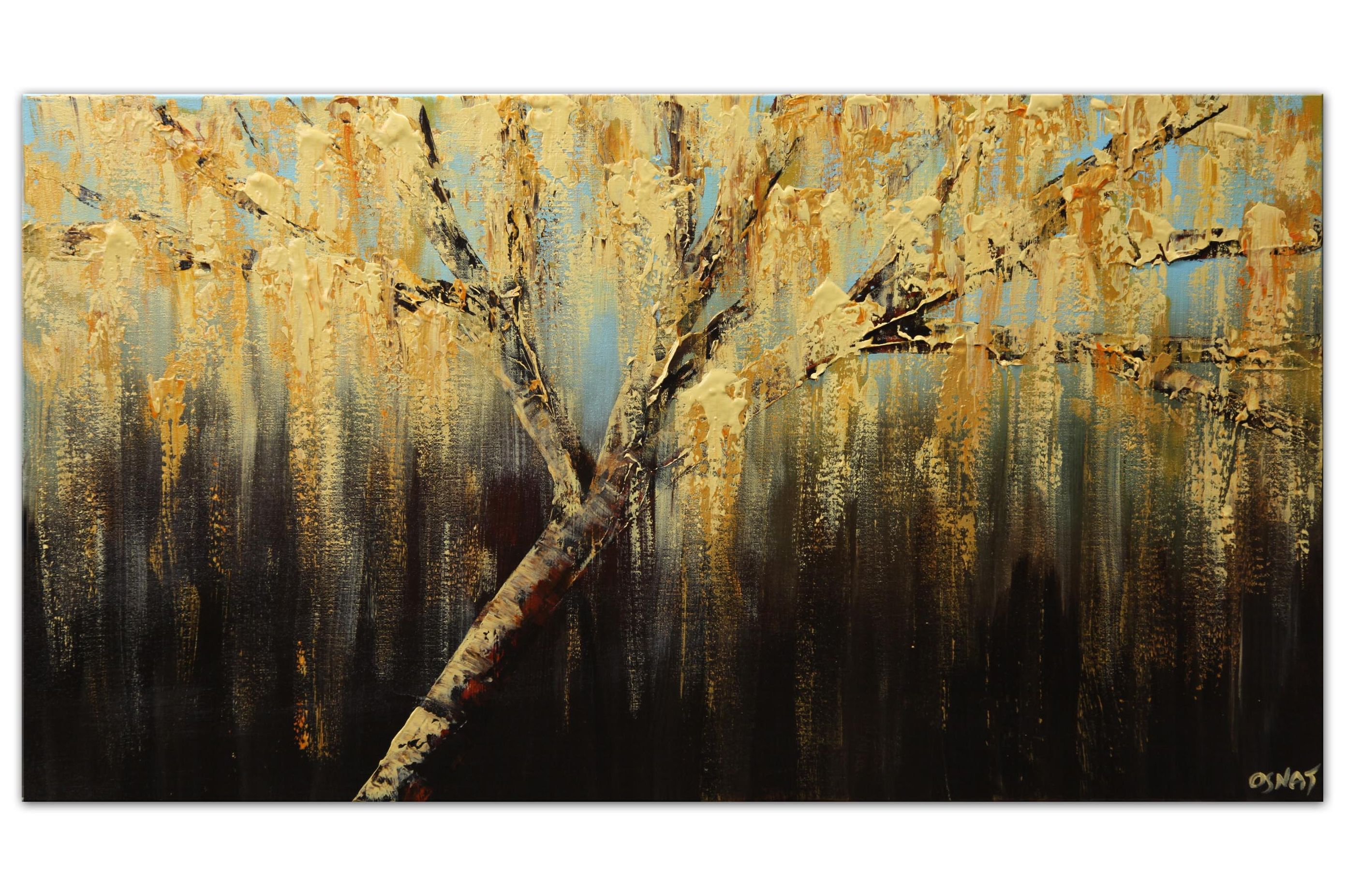original abstract tree large art wall decor