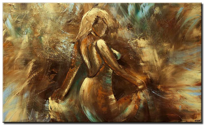 Painting For Sale - Woman Dancing Wall Decor Abstract Painting #5899