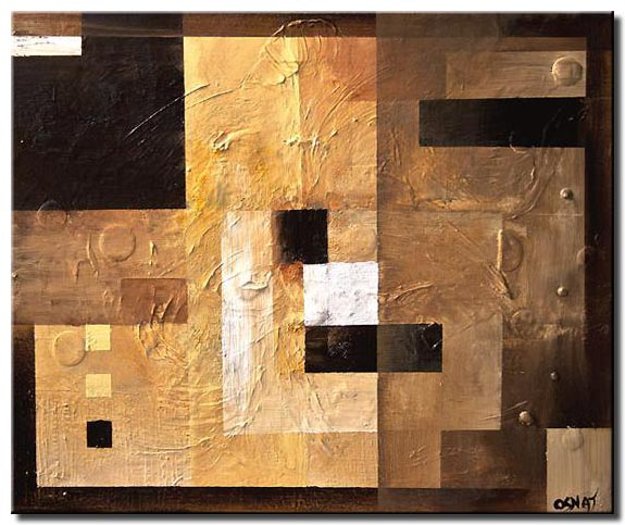 abstract painting of squares border geometric