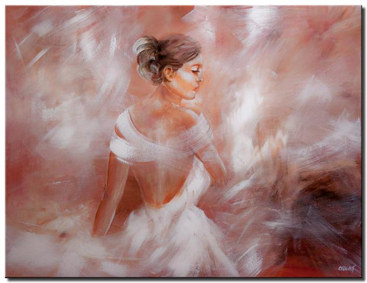 ballerina dancer in soft colors dove woman