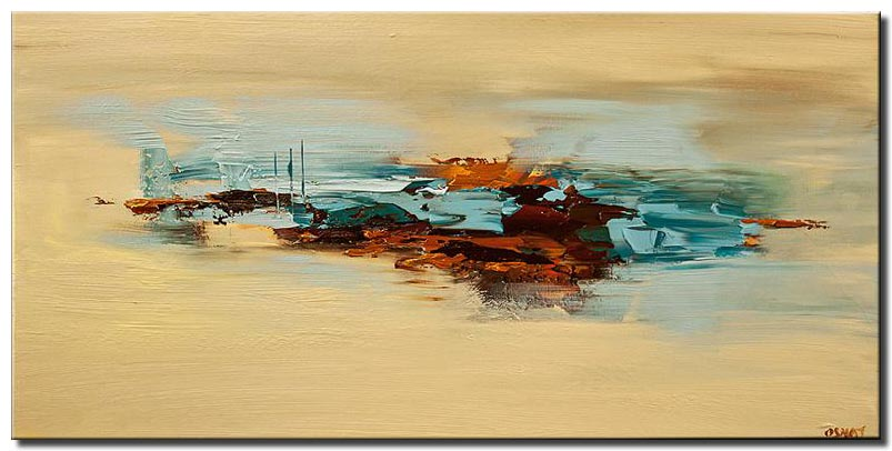 abstract painting in sandy and brown colors